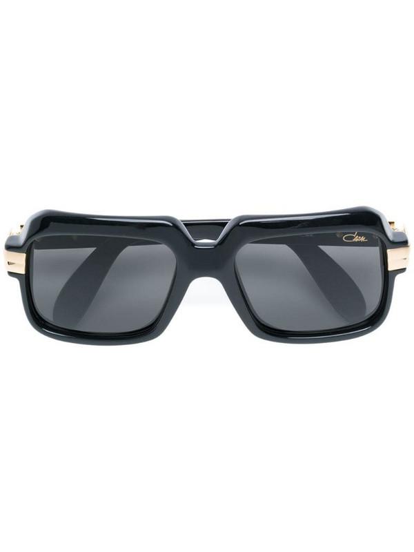 Cazal square shaped aviator sunglasses in black
