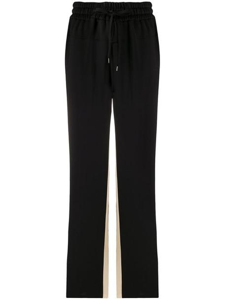 Nº21 contrast panels track pants in black