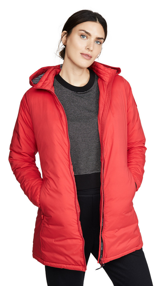 Canada Goose Camp Hooded Jacket in red