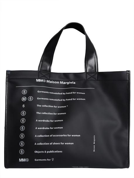 MM6 Maison Margiela Pvc Tote Bag in nero