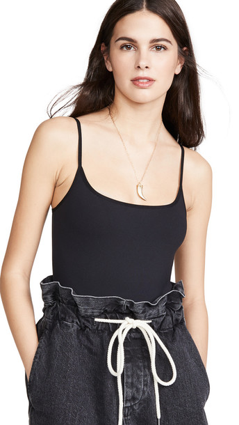 Free People Strappy Basique Thong Bodysuit in black