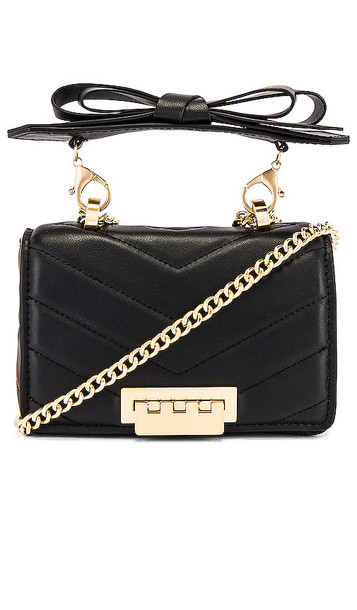 Zac Zac Posen Soft Earthette Mini Chain Shoulder Bag in Black