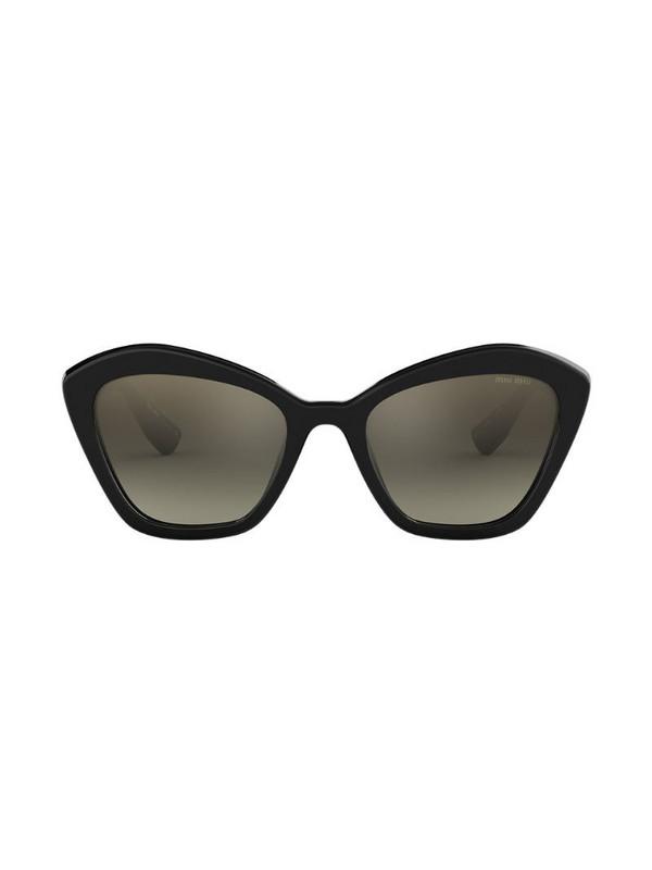 Miu Miu Eyewear cat eye sunglasses in black