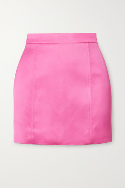GAUGE81 - Tuscany Satin Mini Skirt - Fuchsia