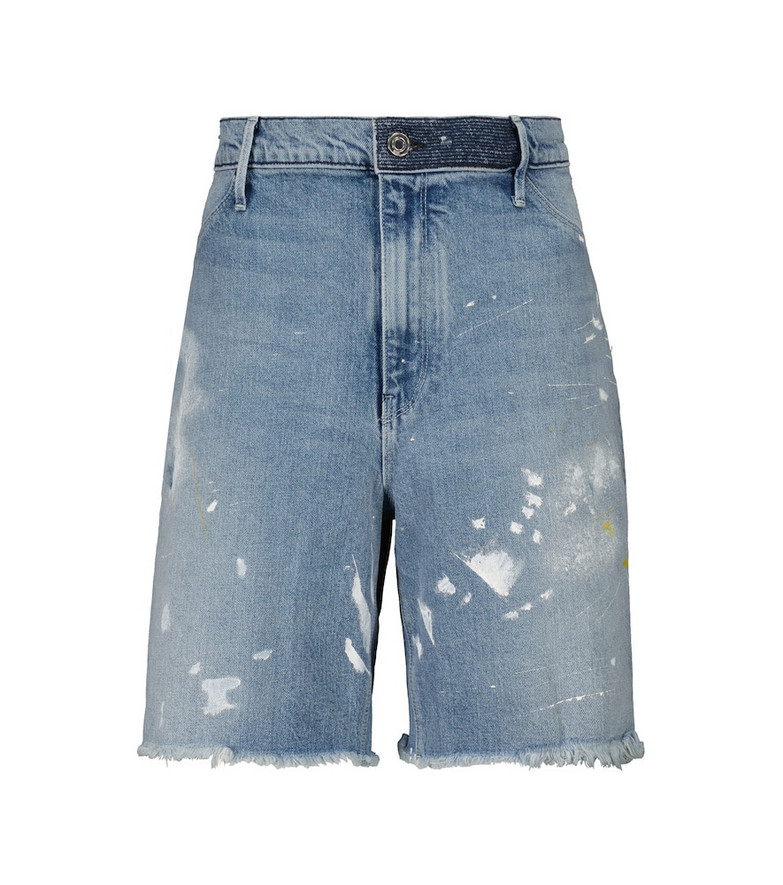 RtA Painted denim shorts in blue