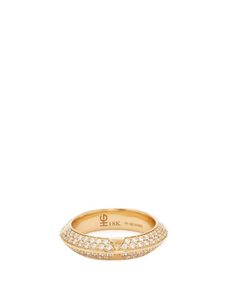 Harwell Godfrey - Rosa Diamond Pavé & 18kt Gold Ring - Womens - Gold Multi