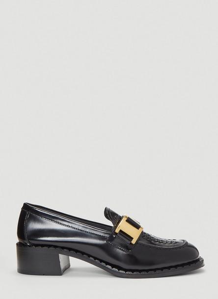 Prada Buckle Moccasin Shoes in Black size EU - 37
