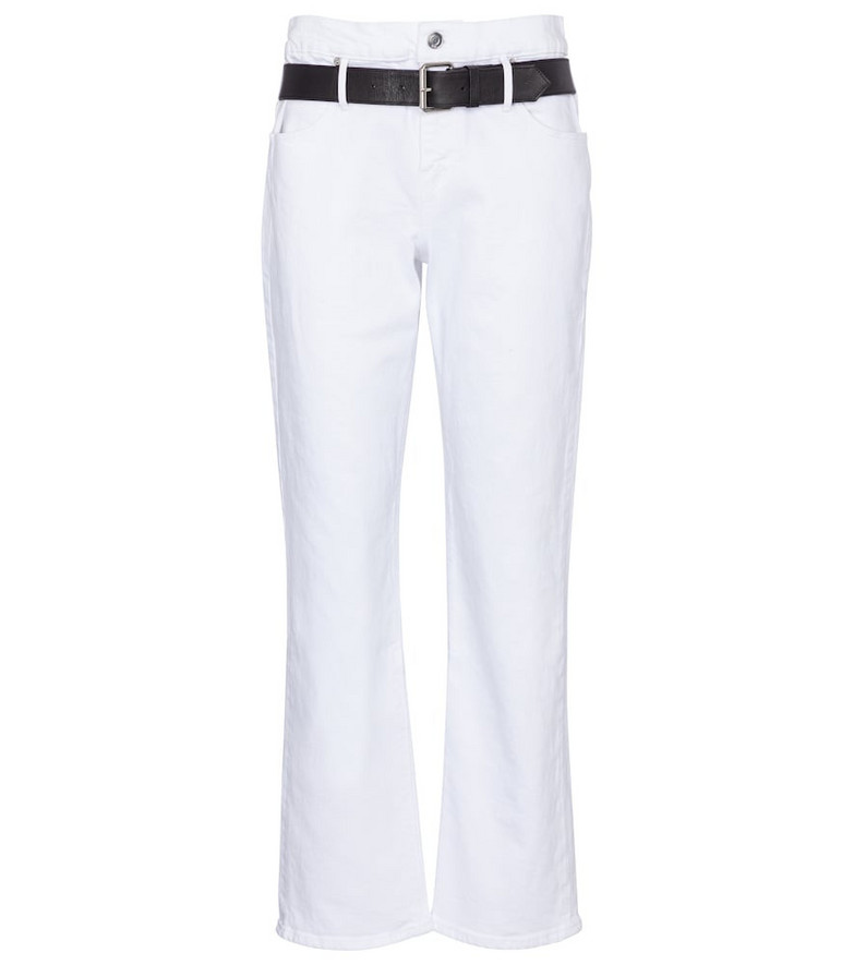 RtA Dexter high-rise cropped jeans in white