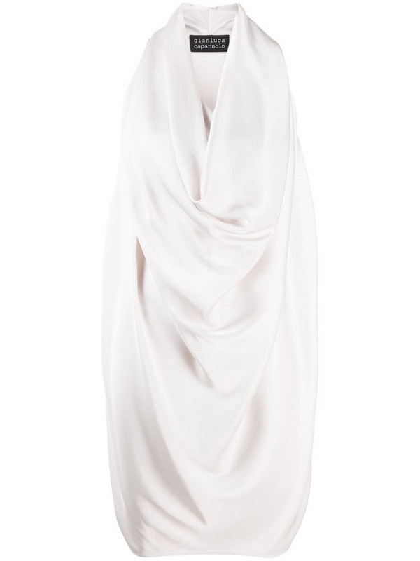 Gianluca Capannolo draped cowl dress in neutrals
