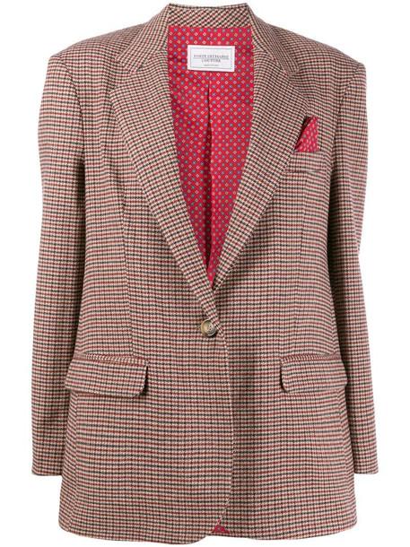 Forte Dei Marmi Couture Americana oversized blazer in neutrals