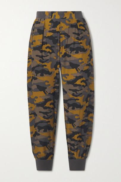 ATM Anthony Thomas Melillo - Camouflage-print Silk Track Pants - Bronze