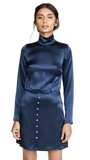 Sablyn Tonya Silk Dress in navy