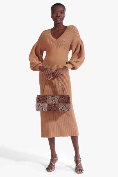 Staud CARNATION DRESS | CAMEL