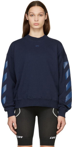 Off-White Blue Rubber Arrow Skate Sweatshirt