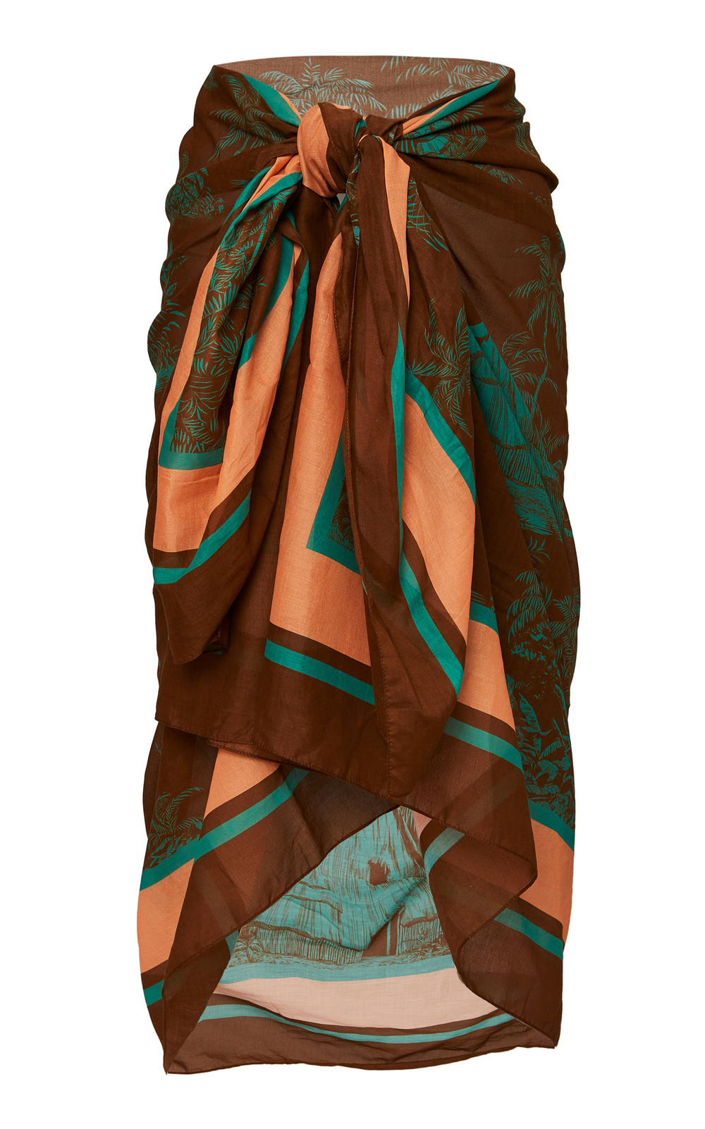Johanna Ortiz Costa Del Sol Toile Pareo in brown