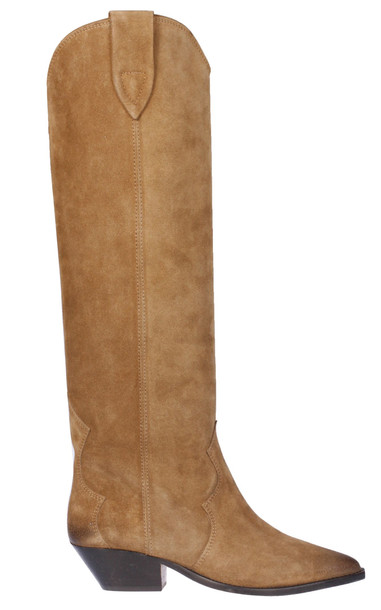 Isabel Marant Pointed Toe Over-the-knee Boots in taupe