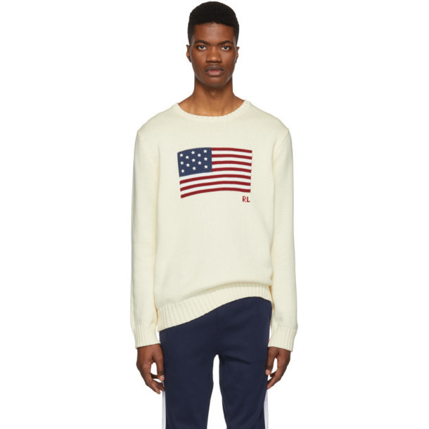 Polo Ralph Lauren Off-White Knit Icon Sweater