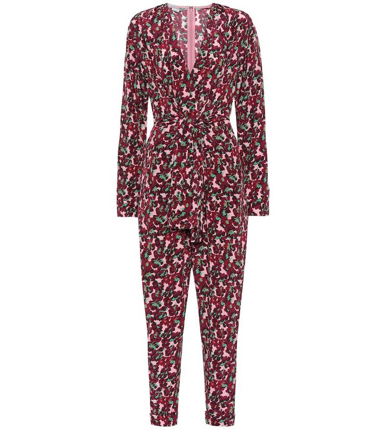 Stella McCartney Floral silk jumpsuit in pink