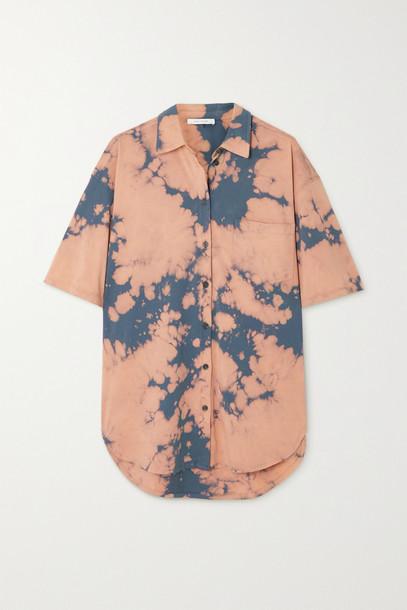 NINETY PERCENT - + Net Sustain Tie-dyed Organic Cotton-jersey Shirt - Gray