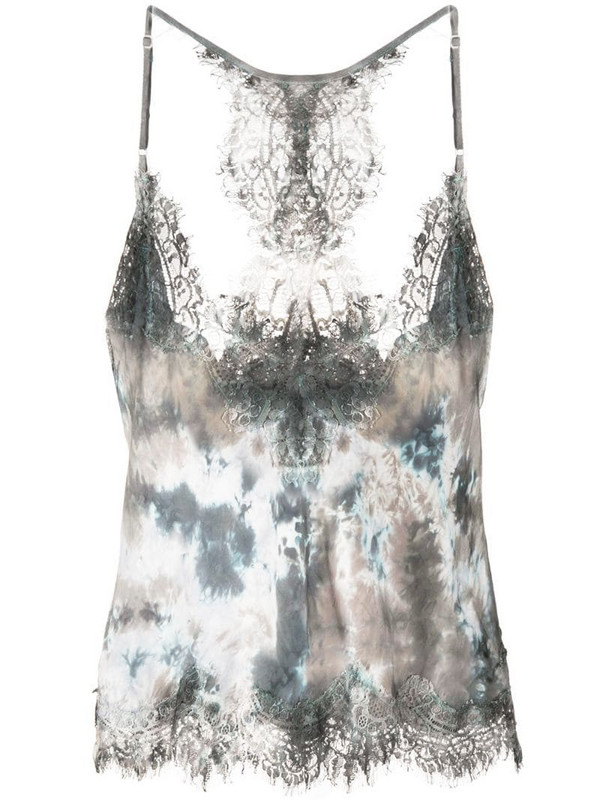 Gold Hawk abstract print camisole in grey