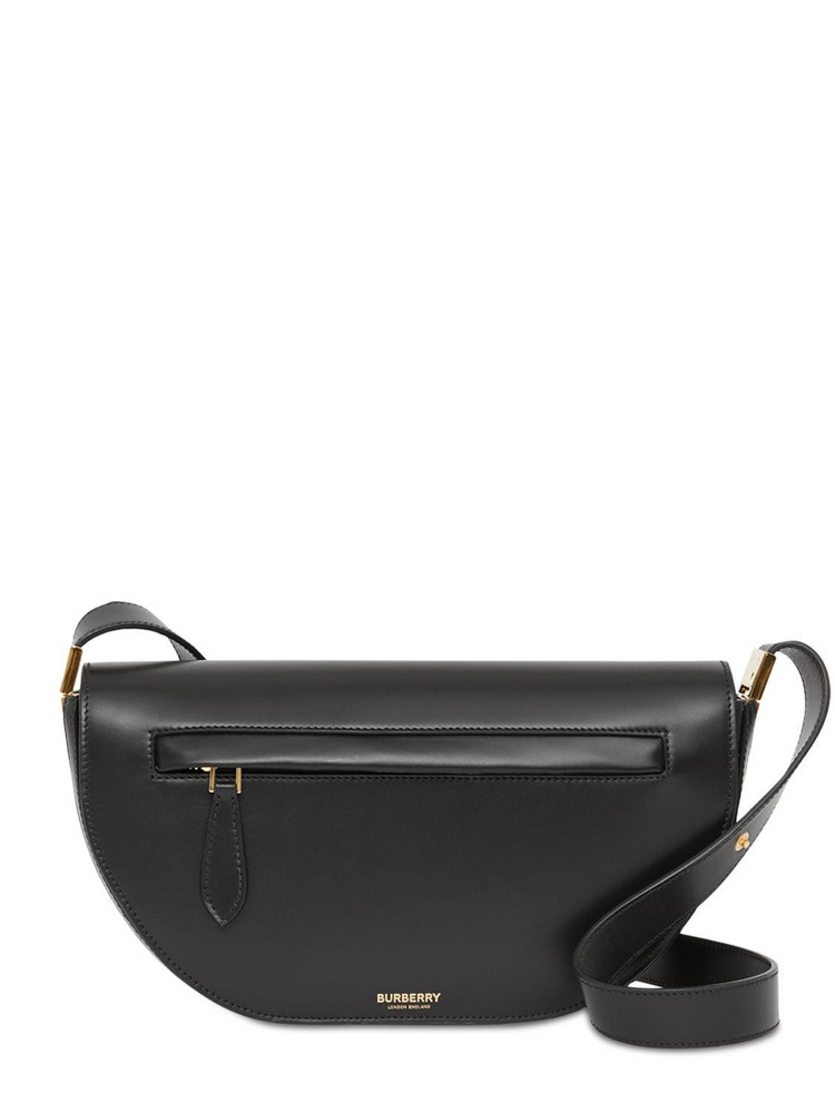 BURBERRY Small Olympia Leather Shoulder Bag in black