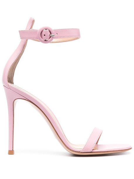Gianvito Rossi Athena leather sandals in pink