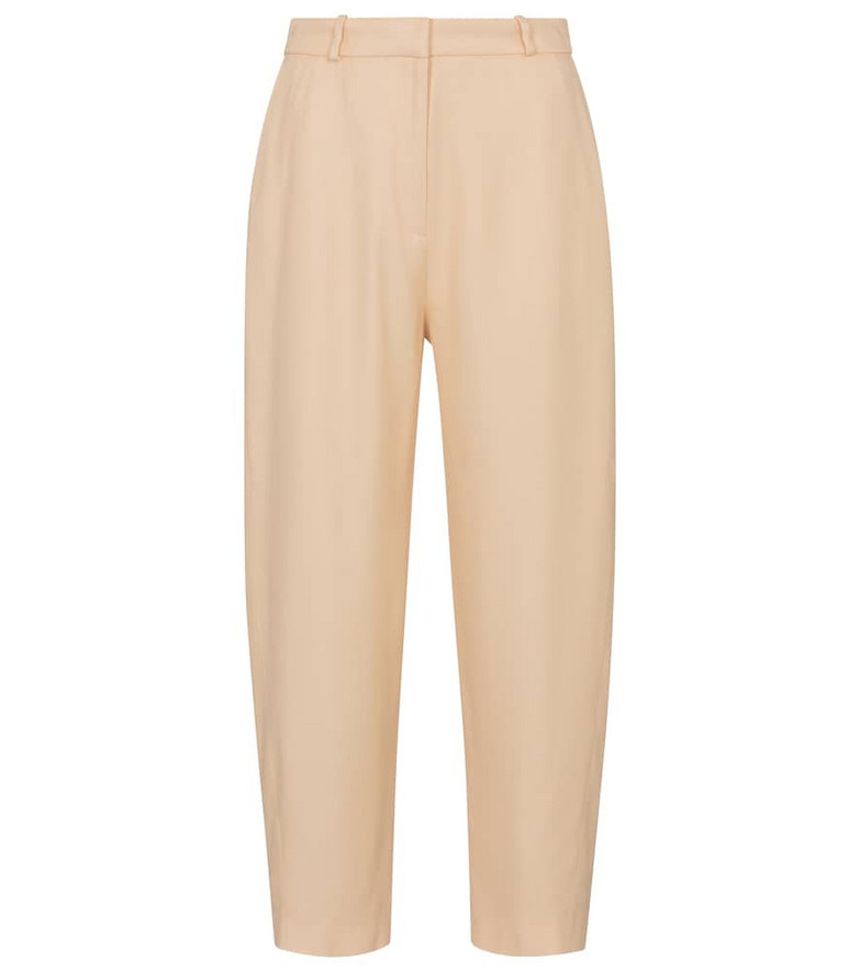 Toteme Twisted-seam twill pants in beige
