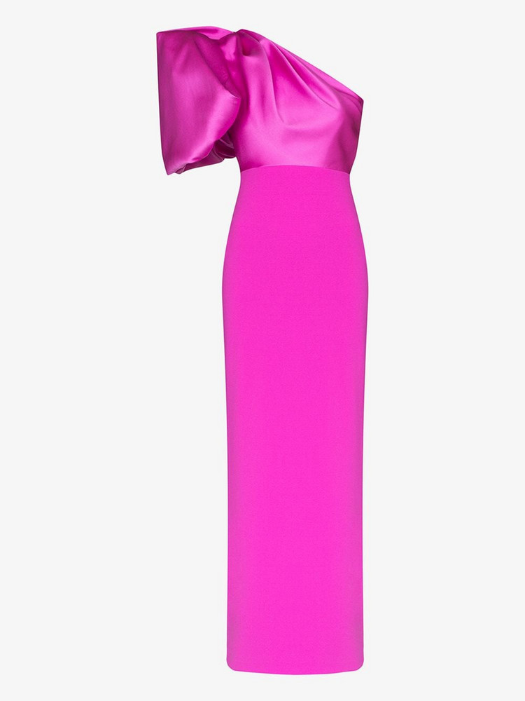 Solace London Acaia one shoulder maxi dresss in pink
