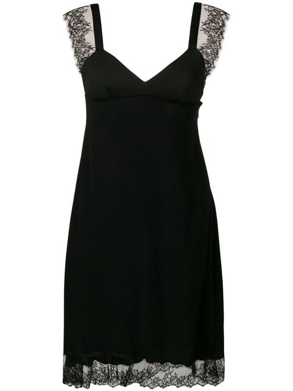 Neil Barrett lace detail dress in black