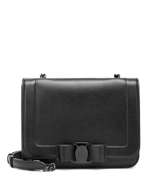Salvatore Ferragamo Vara leather shoulder bag in black