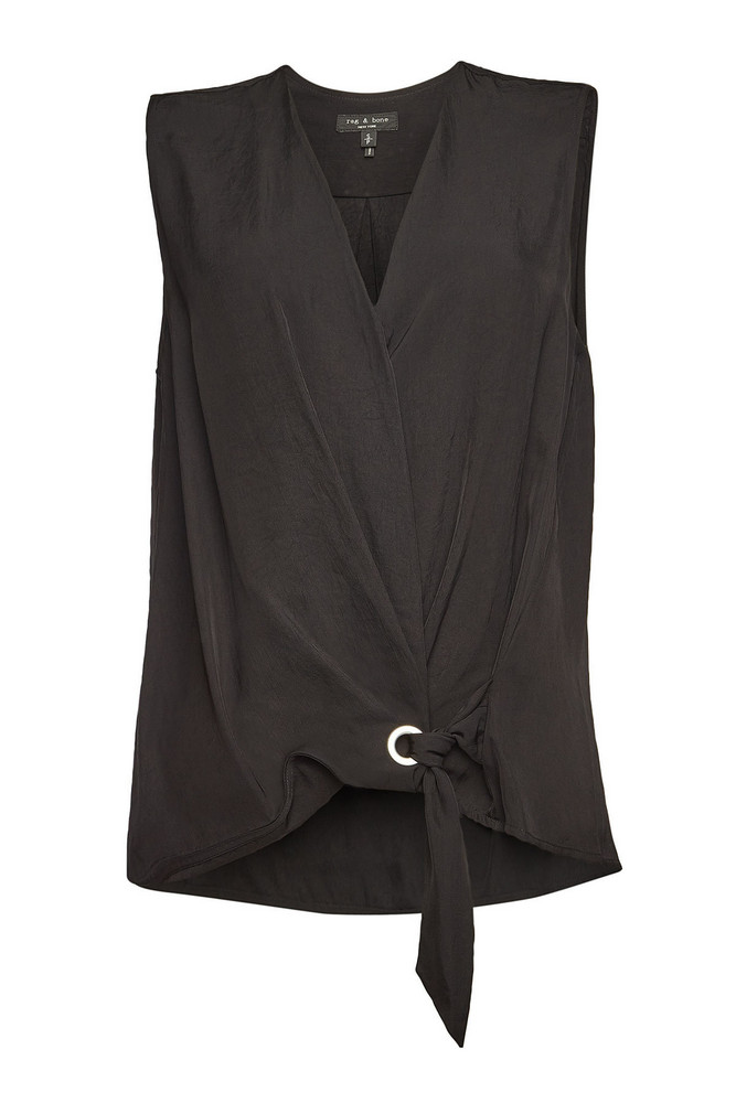 Rag & Bone Felix Sleeveless Top  in black