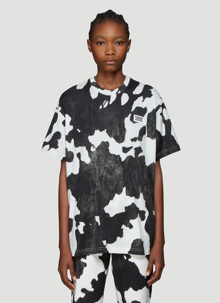 Burberry Cow Print T-Shirt in Black size S