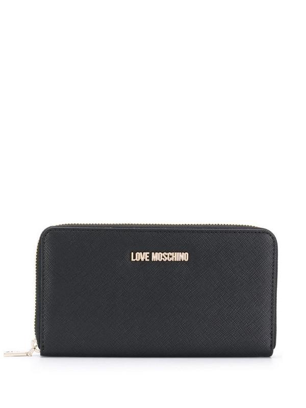 Love Moschino logo plaque purse in black