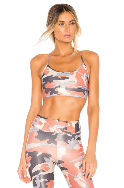 KORAL Sweeper Sports Bra in coral