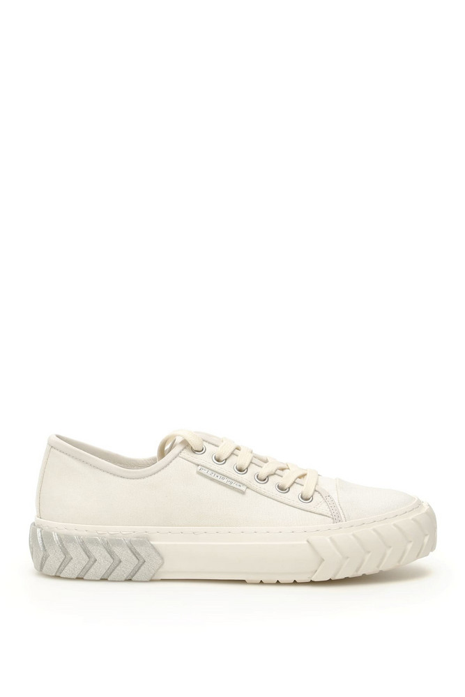 Both Low Tyres Sneakers in silver / white