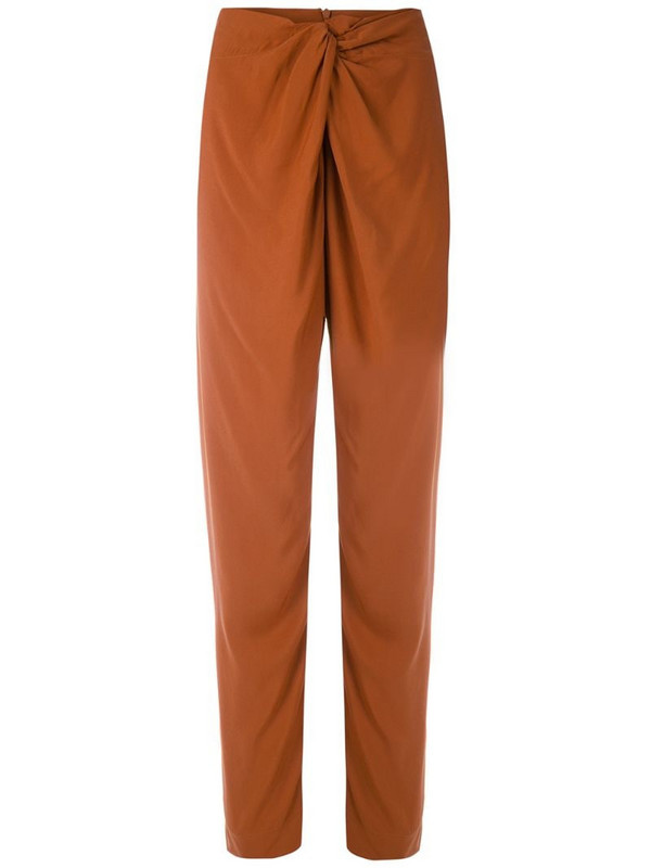 LE SOLEIL D'ETE Francisca slim trousers in brown