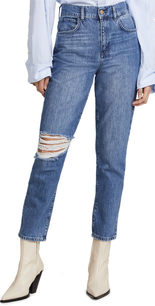 Triarchy High Rise Stove Pipe Jeans in indigo