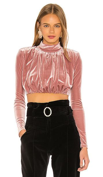 NBD Clara Long Sleeve Top in Pink