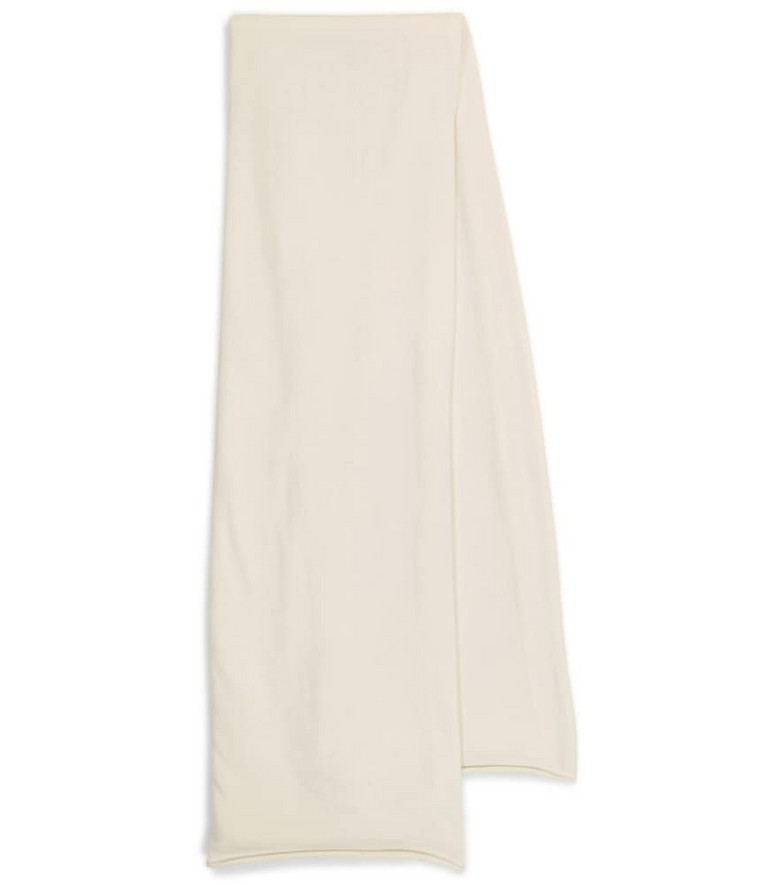 Extreme Cashmere N° 181 Cloth cashmere-blend scarf in white