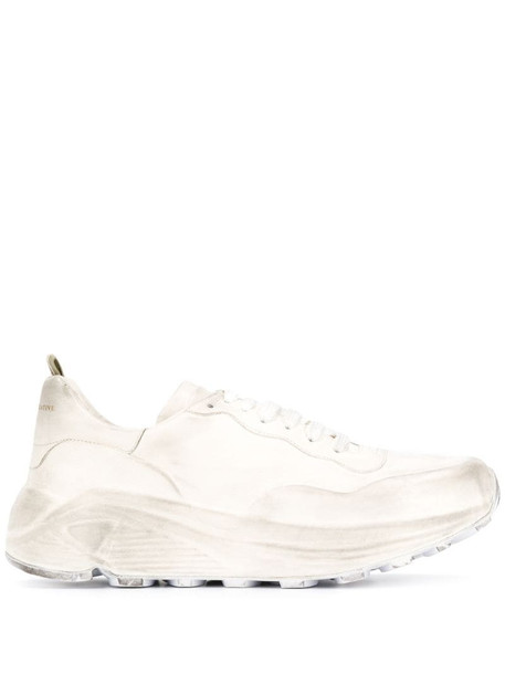 Officine Creative Sphyke distressed sneakers in white