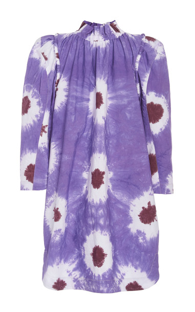 Sea Tie-Dye Cotton-Voile Mini Dress