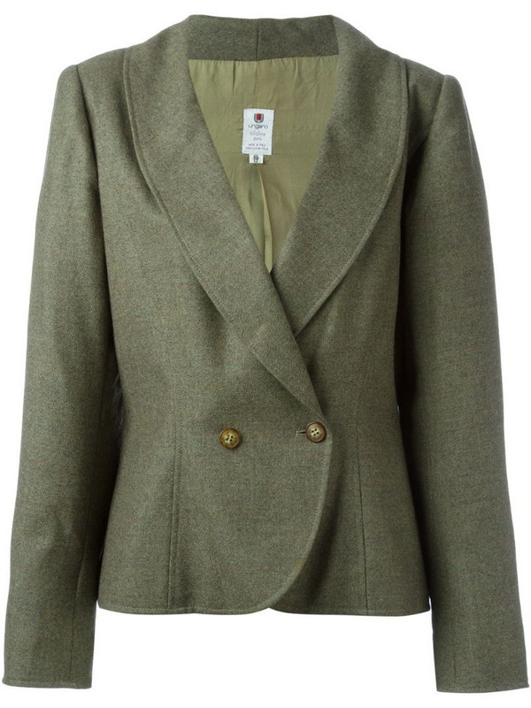 Emanuel Ungaro Pre-Owned curved hem blazer in green