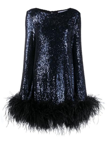 NERVI Ines sequin embellished dress in blue