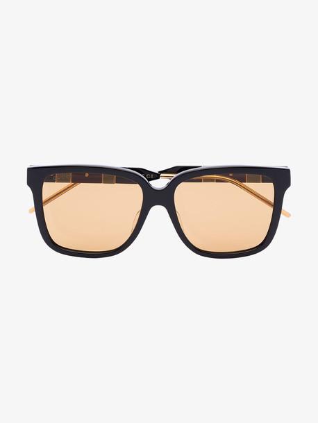 Gucci Eyewear black square acetate sunglasses