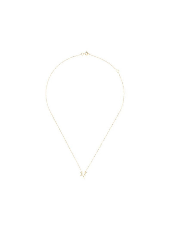 LE STER 18kt yellow gold Dark Fire necklace