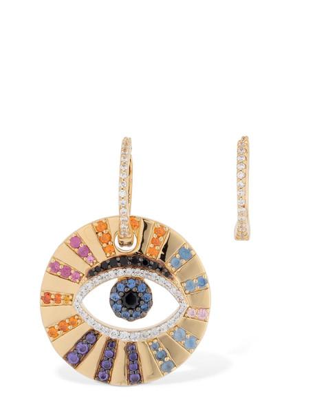 APM MONACO Asymmetric Multicolor Lucky Eye Earrings in gold / multi