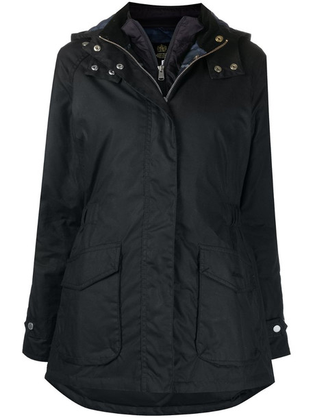 Barbour Aberdeen hooded waxed parka in blue