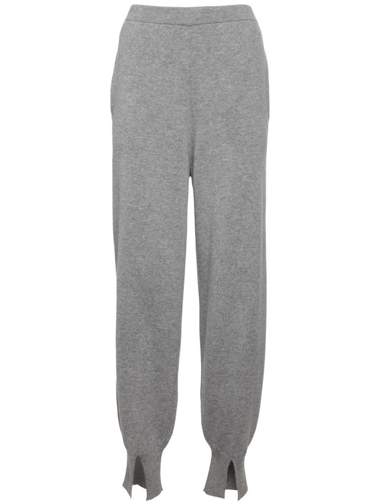 THEORY Cashmere Jogging Pants W/ Slits in grey