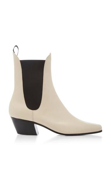 Khaite Saratoga Chelsea Boots in white