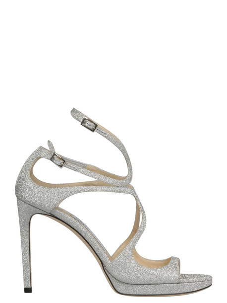 Jimmy Choo Lace 100 Sandals in silver
